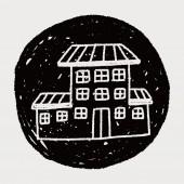 Doodle dům — Stock vektor