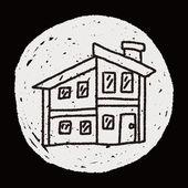Doodle House — Cтоковый вектор