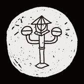 Doodle Streetlights — Stock Vector