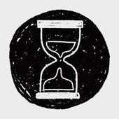 Doodle Hourglass — Stock Vector