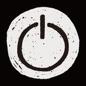 電源を落書き — ストックベクタ