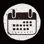 каракули календарь — Cтоковый вектор