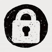 Doodle Lock — Stock Vector