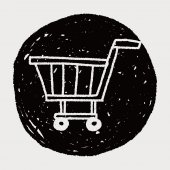 Doodle Shopping cart — Stock Vector
