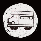 Doodle SUV — Stockvektor