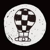 Doodle Hot Air Balloon — Stock Vector