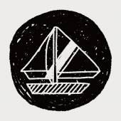 Doodle Sailboat — Wektor stockowy