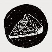 Doodle Pizza — Vector de stock