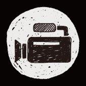 Doodle Video recorder — ストックベクタ