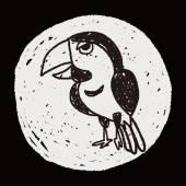 Doodle Bird — Wektor stockowy