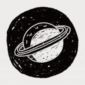 Doodle Planet — Stock Vector