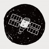 Doodle Satellites — Vector de stock