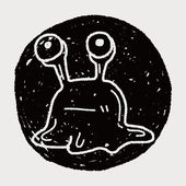 Doodle Alien — Stock Vector