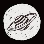 Doodle planety — Wektor stockowy