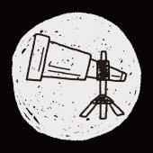Doodle Binoculars — Stock Vector