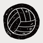 Doodle Volleyball — Stock vektor