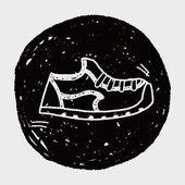 Doodle Sneakers — Stock Vector