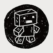 Doodle Robot — Stock Vector