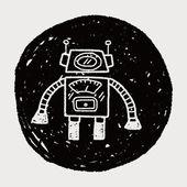 Doodle robot — Stok Vektör