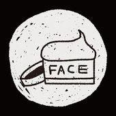 Face cream doodle ritning — Stockvektor