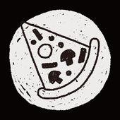 Pizza doodle drawing — Stok Vektör