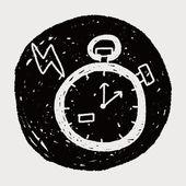 Doodle stopwatch — Stock Vector