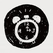 Doodle alarm — Stock Vector