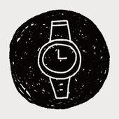 Doodle watch — Stock Vector