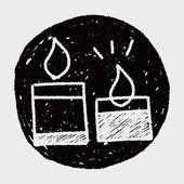 Doodle vela — Vector de stock