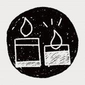 Doodle candle — Wektor stockowy