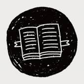 Doodle open book — Stock Vector