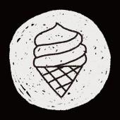 Doodle-Eis — Stockvektor