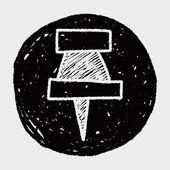 Doodle pushpin — Stock Vector
