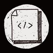 Doodle code document — Stock Vector