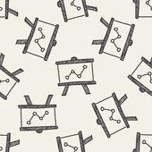 Tabla pizarra Doodle — Vector de stock