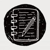 Doodle notebook — Stock Vector