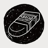 Doodle eraser — Stock Vector