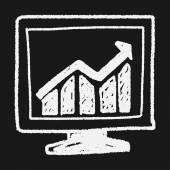 Doodle screen growth — Stock Vector