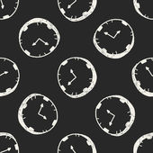 Doodle clock seamless pattern background — 图库矢量图片