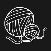 Doodle wool — Stock Vector