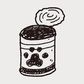 犬缶詰の落書き — ストックベクタ