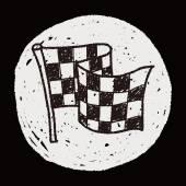 Racing flag doodle — Stock Vector