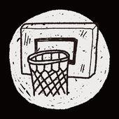 Basketball doodle — Stockvector