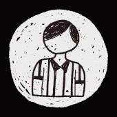 Doodle árbitro — Vector de stock