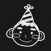 Doodle birthday boy — Stock Vector