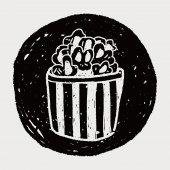 Doodle Popcorn — Stock Vector