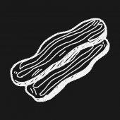 Bacon doodle — Stock Vector