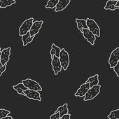 Dumpling doodle seamless pattern background — Stock vektor