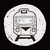 Train doodle — Stock Vector