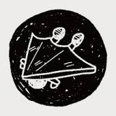 Hang gliding doodle — Stok Vektör